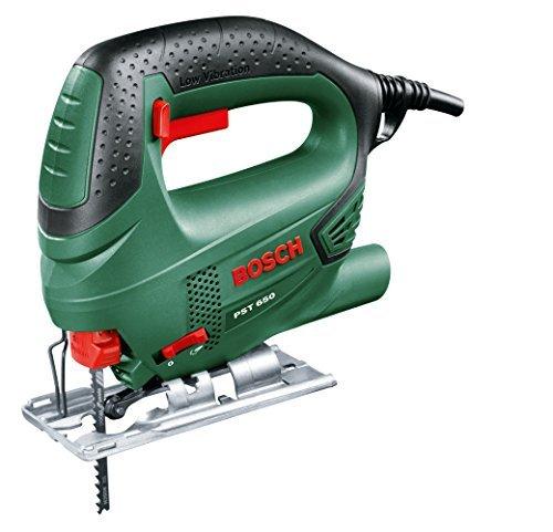 51 p3f20ygL - Bosch DIY Stichsäge PST 650, 1 Sägeblatt T 144 D für Holz, Koffer (500 W, Schnitttiefe in Holz 65 mm, Schnitttiefe in Stahl 4 mm)