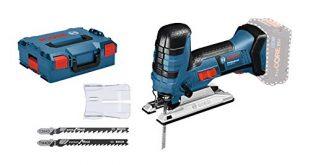 Bosch Professional 18V System Akku Stichsaege GST 18 V LI S 310x165 - Bosch Professional 18V System Akku Stichsäge GST 18 V-LI S (Stabversion, Schnitttiefe in Holz/Alu/Metall: 120/20/8 mm, 3 Stichsägeblätter, Spanreißschutz, ohne Akkus und Ladegerät, in L-BOXX)